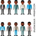 set of icons business african... | Shutterstock .eps vector #446642104
