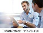 handsome young businessman... | Shutterstock . vector #446643118