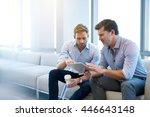 handsome young businessman... | Shutterstock . vector #446643148