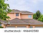 the top of the house or... | Shutterstock . vector #446643580