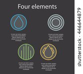 images of the four elements on... | Shutterstock .eps vector #446644879