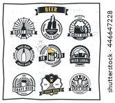 set of vintage beer badge logo... | Shutterstock .eps vector #446647228