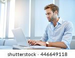 handsome young business... | Shutterstock . vector #446649118