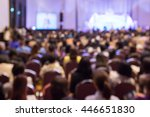 blur  audience sitting in hall... | Shutterstock . vector #446651830