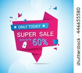 sale banner template  vector... | Shutterstock .eps vector #446655580
