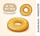 doughnut set   vector...   Shutterstock .eps vector #446662558