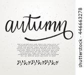 handwritten lettering  ... | Shutterstock .eps vector #446663278