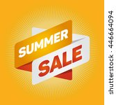 summer sale arrow tag sign icon.... | Shutterstock .eps vector #446664094