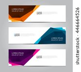 vector design banner background. | Shutterstock .eps vector #446664526