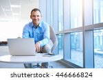 portrait of a handsome middle... | Shutterstock . vector #446666824