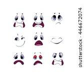 cartoon face emotions set | Shutterstock .eps vector #446672074