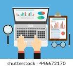 set of flat design illustration ... | Shutterstock .eps vector #446672170