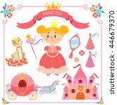 vector illustration of pink... | Shutterstock .eps vector #446679370