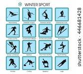 set of vector winter sport | Shutterstock .eps vector #446681428