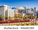 san diego  california cityscape ... | Shutterstock . vector #446681584