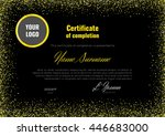 certificate of appreciation ... | Shutterstock .eps vector #446683000