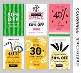 hand drawn design promotional...   Shutterstock .eps vector #446686933