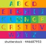 colored paper graphic alphabet...