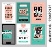 social media banners pack.... | Shutterstock .eps vector #446690689