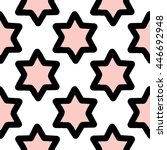 star of david. seamless pattern.... | Shutterstock .eps vector #446692948