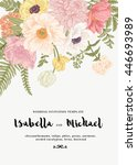 elegant wedding invitations... | Shutterstock .eps vector #446693989