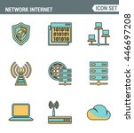 icons line set premium quality...   Shutterstock .eps vector #446697208