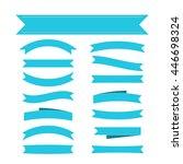 blue ribbon banners set.... | Shutterstock .eps vector #446698324