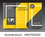 corporate trifold brochure... | Shutterstock .eps vector #446706343