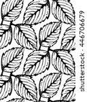 vintage floral seamless pattern ... | Shutterstock .eps vector #446706679