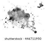 black watercolor stain | Shutterstock .eps vector #446711950