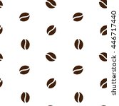 brown coffee beans on a white... | Shutterstock .eps vector #446717440