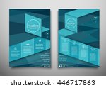 blue business brochure flyer... | Shutterstock .eps vector #446717863