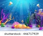 marine life landscape   the... | Shutterstock .eps vector #446717929