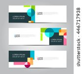 vector design banner background. | Shutterstock .eps vector #446717938