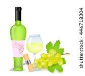 vector illustration of vine...   Shutterstock .eps vector #446718304