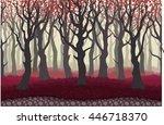 parallax cartoon misterious... | Shutterstock .eps vector #446718370