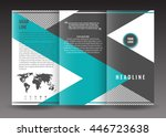 corporate trifold brochure... | Shutterstock .eps vector #446723638