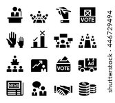 voting  democracy   election ... | Shutterstock .eps vector #446729494