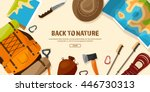 travel tourism vector... | Shutterstock .eps vector #446730313