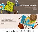 travel tourism vector... | Shutterstock .eps vector #446730340