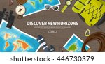 travel tourism vector... | Shutterstock .eps vector #446730379