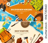 travel tourism vector... | Shutterstock .eps vector #446730460