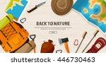 travel tourism vector... | Shutterstock .eps vector #446730463