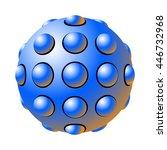 the balls embedded in the sphere | Shutterstock .eps vector #446732968
