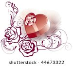 greeting card with gift box... | Shutterstock .eps vector #44673322
