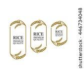 premium rice logo. | Shutterstock .eps vector #446734048