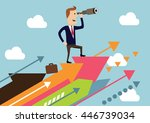 business solutions. businessman ... | Shutterstock .eps vector #446739034