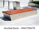 Urban Bench With A Modern High...