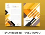 design of annual report cover... | Shutterstock .eps vector #446740990