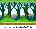 cartoon vector landscape with... | Shutterstock .eps vector #446742934